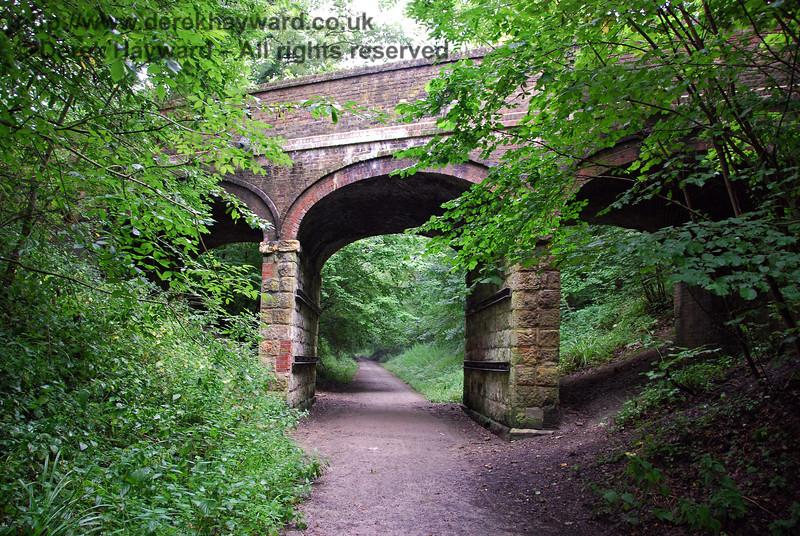 Imberhorne Lane Bridge (Three Bridges route) looking back east towards East Grinstead. 07.08.2009