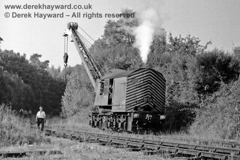Steam crane DS1723 clearing up on St Margaret's Curve, west of the old High Level station, on Sun 5 October 1969.  Photographed by Eric Kemp, who retains all rights to this image.