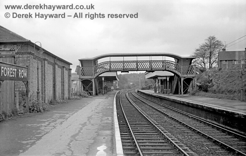 Forest Row station, looking west past the goods shed on 20 April 1965. John Attfield retains all rights to this image.