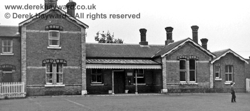 I am very grateful to Eric Kemp for allowing me to use some of his historic images in this gallery.  The station building and forecourt at Forest Row, pictured on 2 November 1968, after closure, by Eric Kemp, who retains all rights to this image.