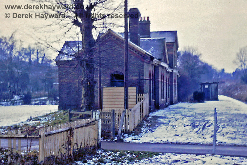 Grange Road station, looking west on 31 December 1968, showing not only the platform but also the forecourt, on which a parade of shops now stands.  Eric Kemp retains all rights to this image.