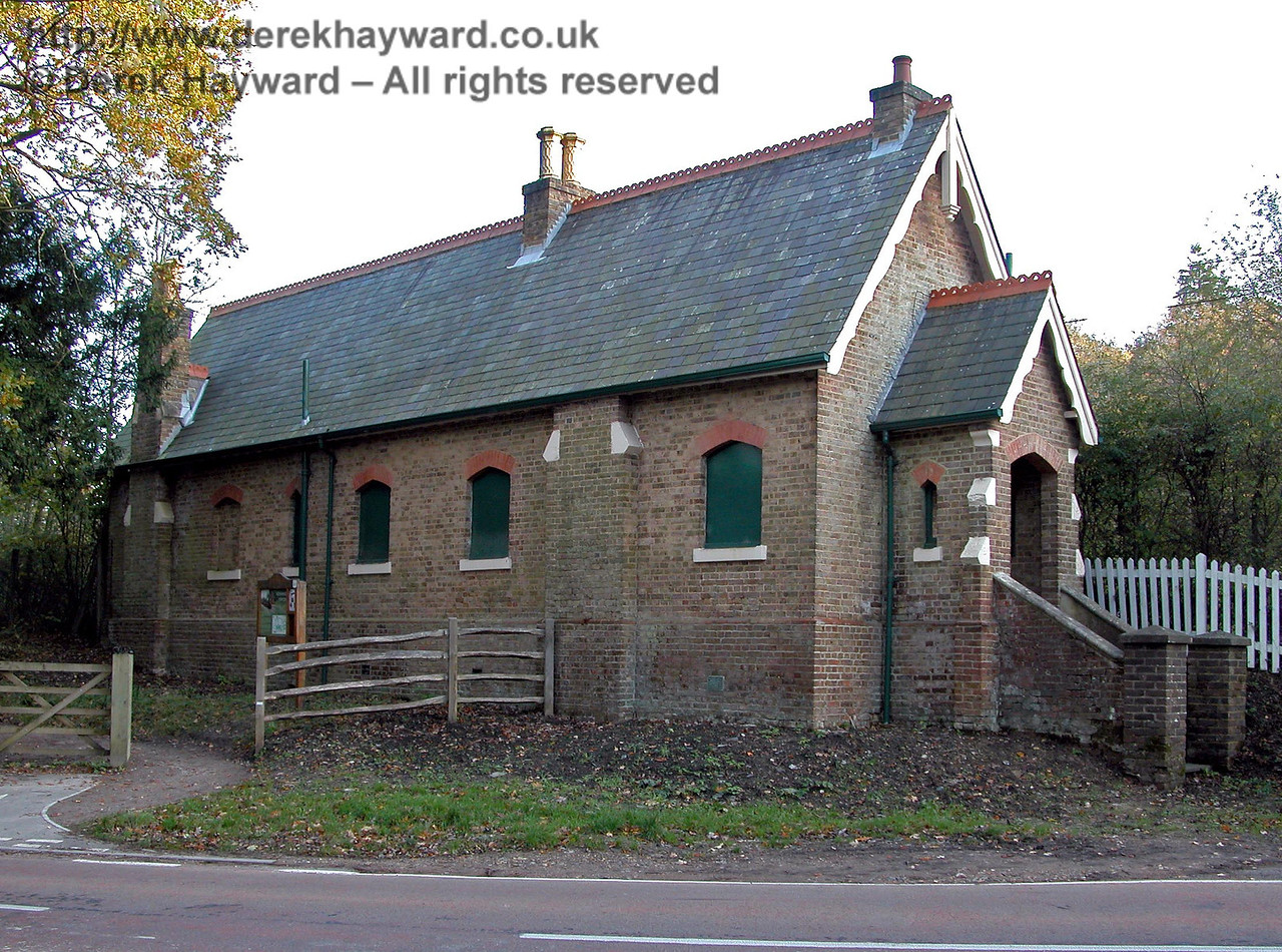 This view, taken in 2005, shows the building from a different angle.  The building has a unique Coachman's porch, seen on the end of the building, constructed to allow Mr Lampson's coachmen to shelter whilst waiting for him. 14.11.2005