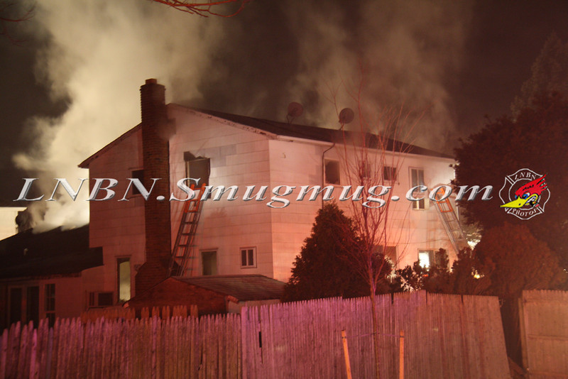 East Islip Working Fire  43 Lagoon Place 12-27-11-1