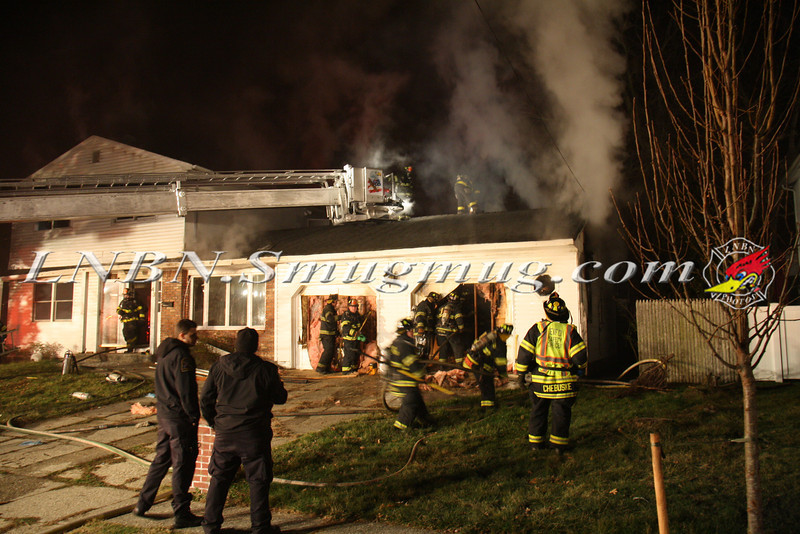 East Islip Working Fire  43 Lagoon Place 12-27-11-3
