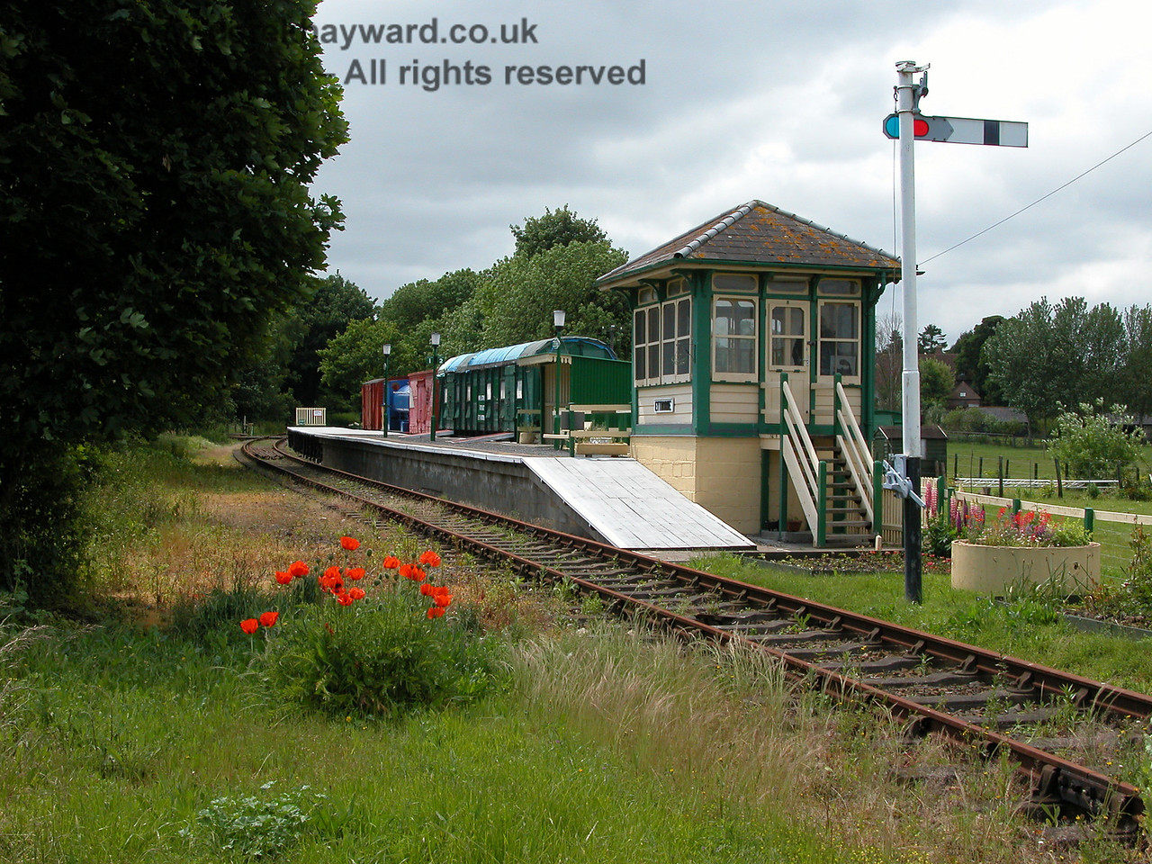 Taken 10 years previously, Eythorne Station looking west on 06.06.2005