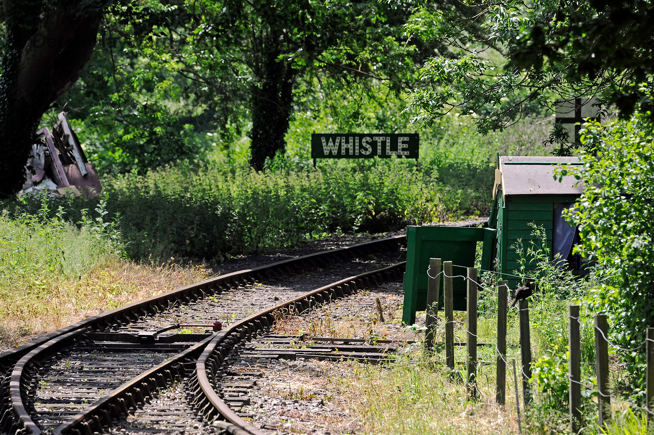 The same view with a longer lens.  Eythorne Station, East Kent Railway, looking west. 17.06.2015  11382