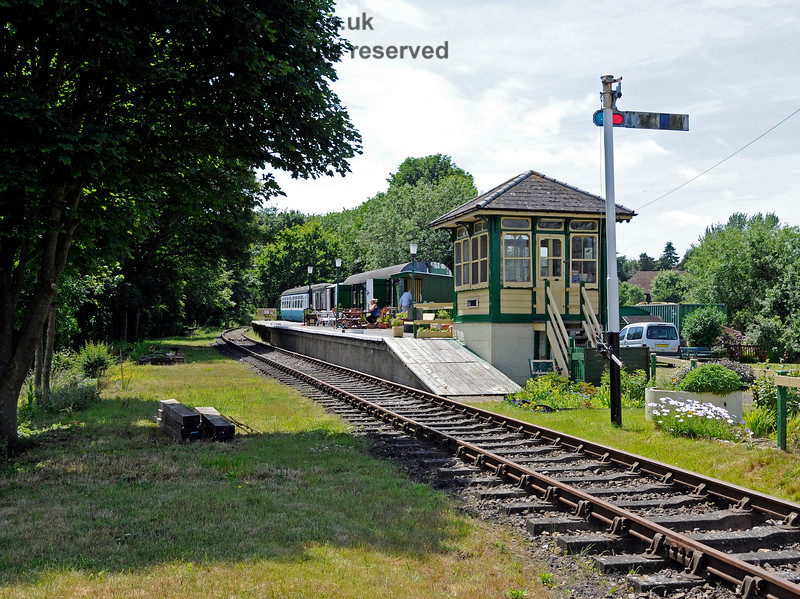 Eythorne Station, East Kent Railway, looking west. 17.06.2015  12789