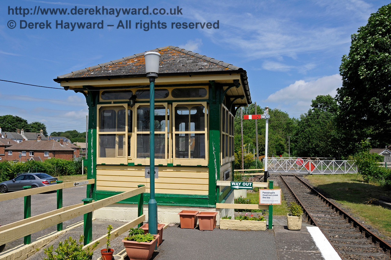 Eythorne Station, East Kent Railway, looking east towards the extension to Wigmore Lane. 17.06.2015  12780