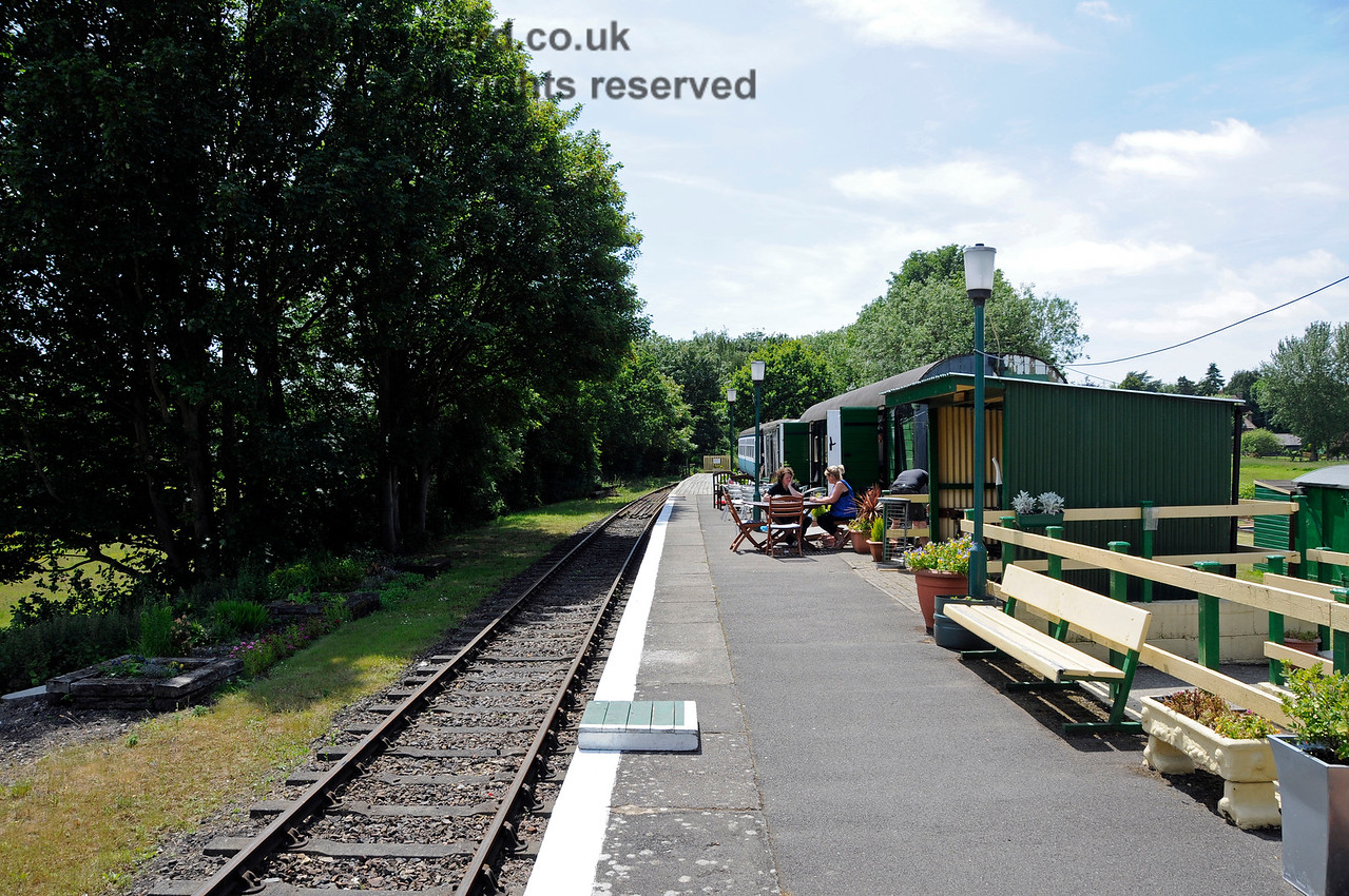 Eythorne Station, East Kent Railway, looking west along the platform. 17.06.2015  12785