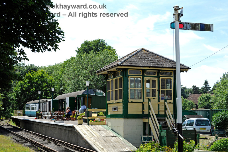 Eythorne Station, East Kent Railway, looking west. 17.06.2015  11386