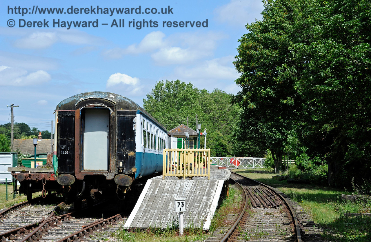 Eythorne Station, East Kent Railway, looking east. 17.06.2015  11385