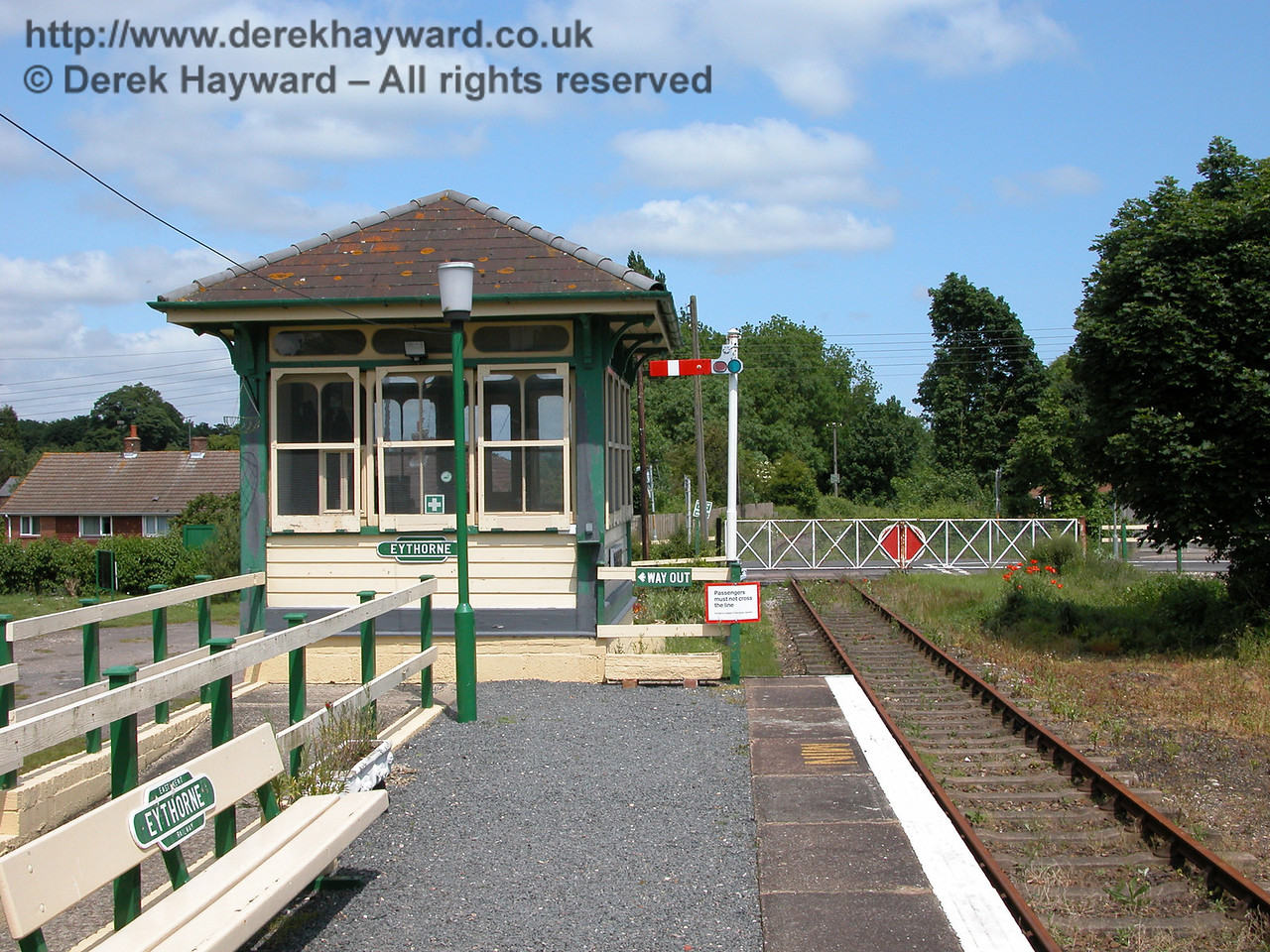 10 years earlier, Eythorne Station looking east on 06.06.2005