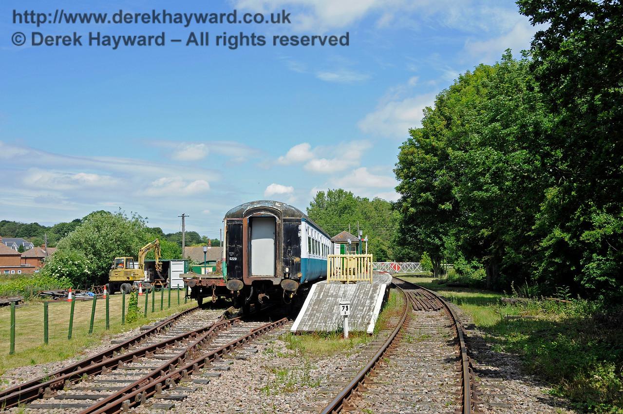 Eythorne Station, East Kent Railway, looking east. 17.06.2015  12787