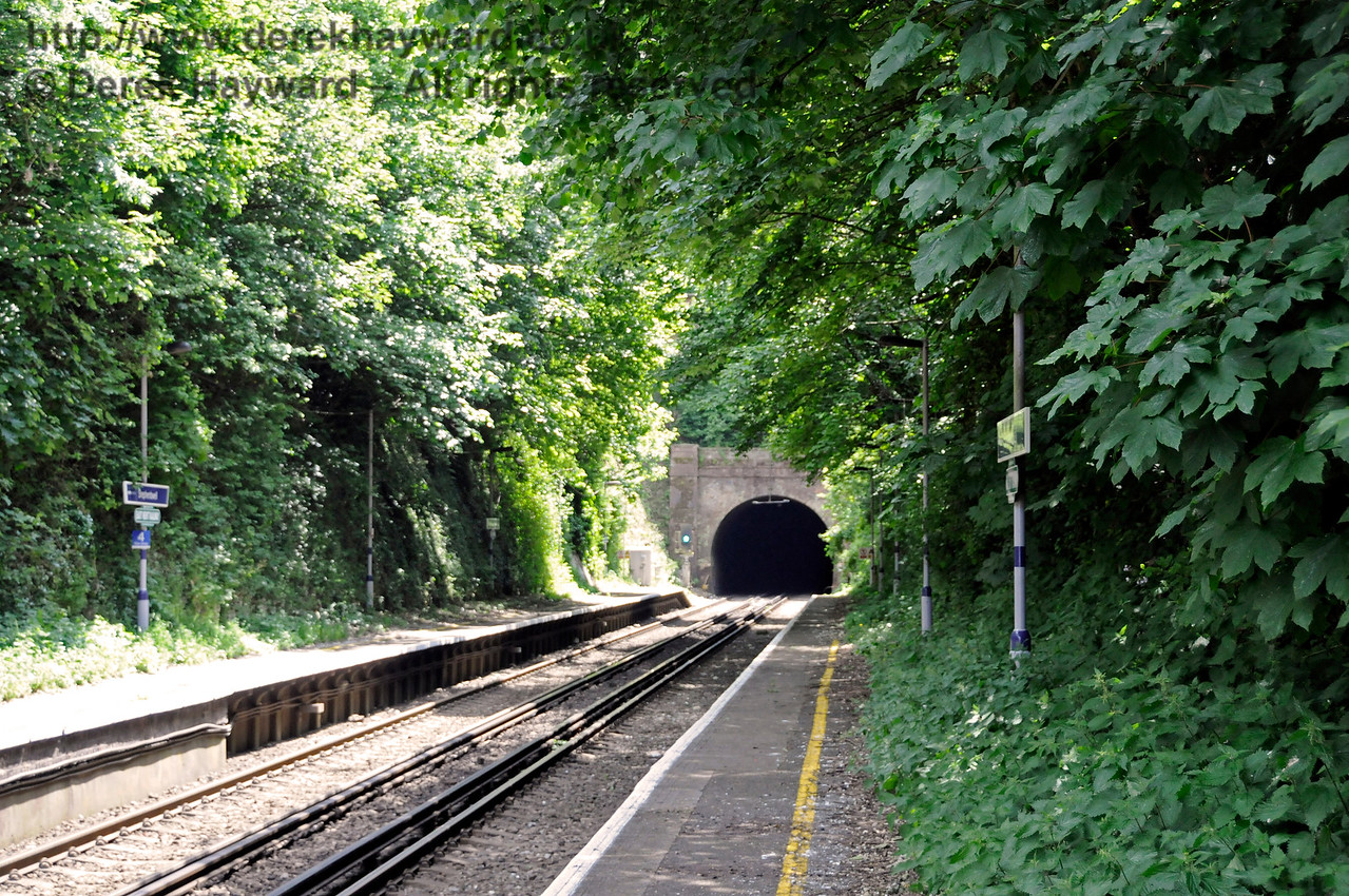 Shepherds Well (or Shepherdswell) Station, Network Rail, looking south. 17.06.2015  12774