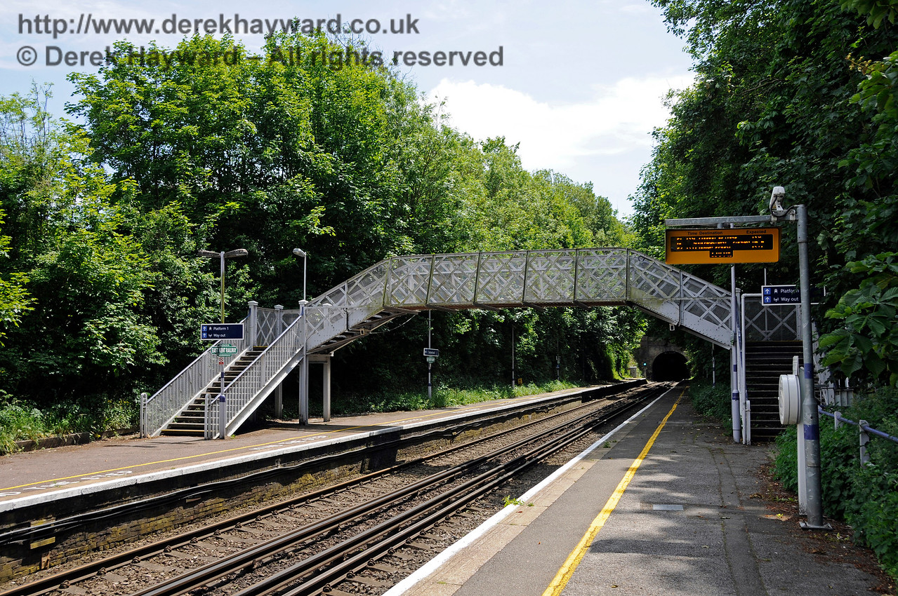 Shepherds Well (or Shepherdswell) Station, Network Rail, looking south. 17.06.2015  12773