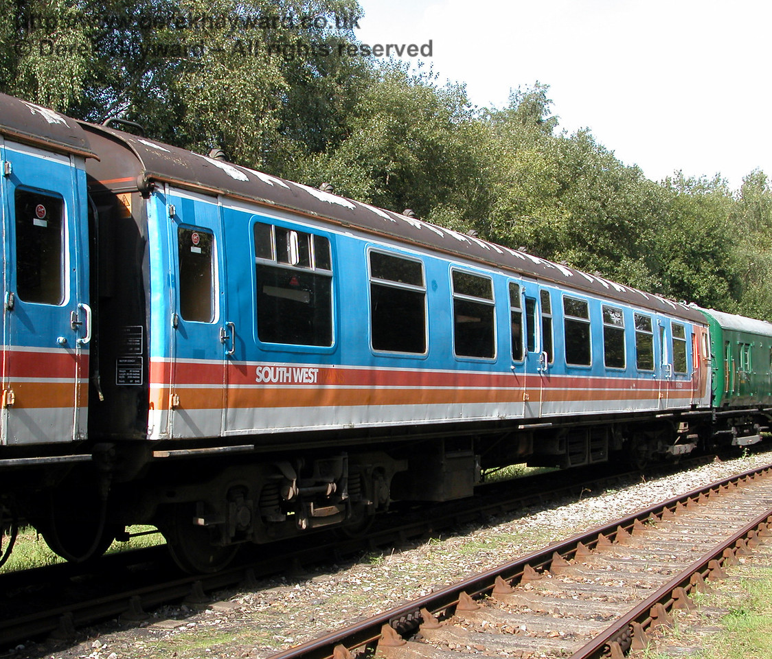 The other motor coach of 4-CEP unit 7105, S61229, at Shepherdswell on 19.09.2006  During a visit in 2015 both motor coaches from this unit were off site being restored and fitted out for use on Network Rail track.