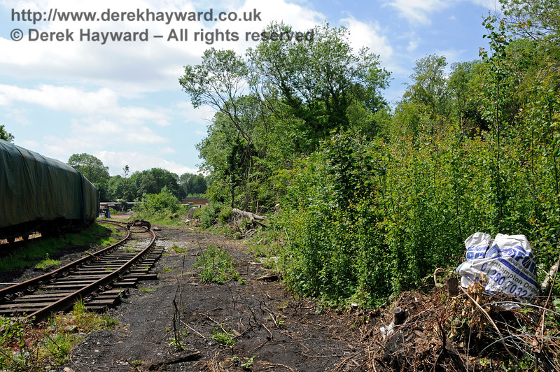 Looking west at the site of the new carriage sheds which are to be constructed at Shepherdswell Station, East Kent Railway.  An additional track is to be laid along the area directly in front of the camera. 17.06.2015  12747