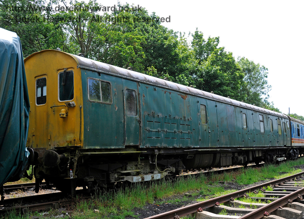 Motor Luggage Van (MLV) S68009.  This coach is owned by the EPB Preservation Group.  Shepherdswell Station, East Kent Railway. 17.06.2015  12748