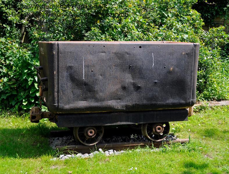 Industrial heritage items on display at Shepherdswell Station, East Kent Railway.  17.06.2015  12762