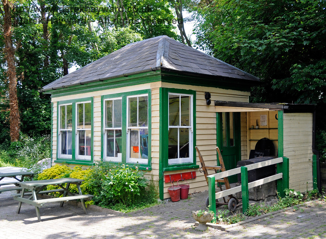 The Visitor Centre, Shepherdswell Station, East Kent Railway.  This building was the signal box at Barham Station and was originally built in 1887.  17.06.2015  12721