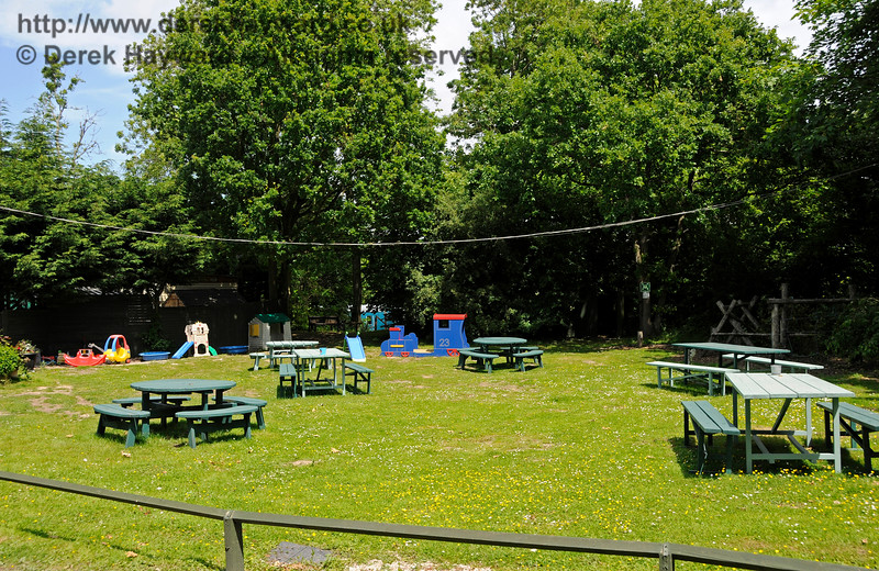 The picnic and play area.  Shepherdswell Station, East Kent Railway.  17.06.2015  12778