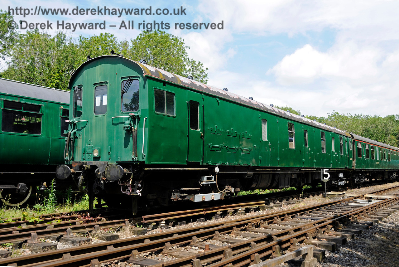 Motor Luggage Van (MLV) S68008.  This coach is owned by the EPB Preservation Group.  Shepherdswell Station, East Kent Railway. 17.06.2015  12737