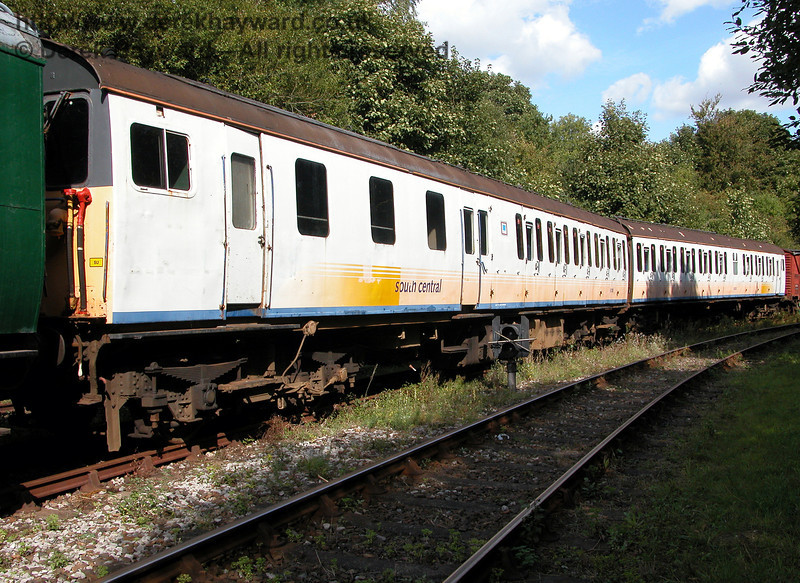 An earlier view of Class 205 DEMU 205001 (Thumper 1101), stored at Shepherdswell, looking east. 1909.2006