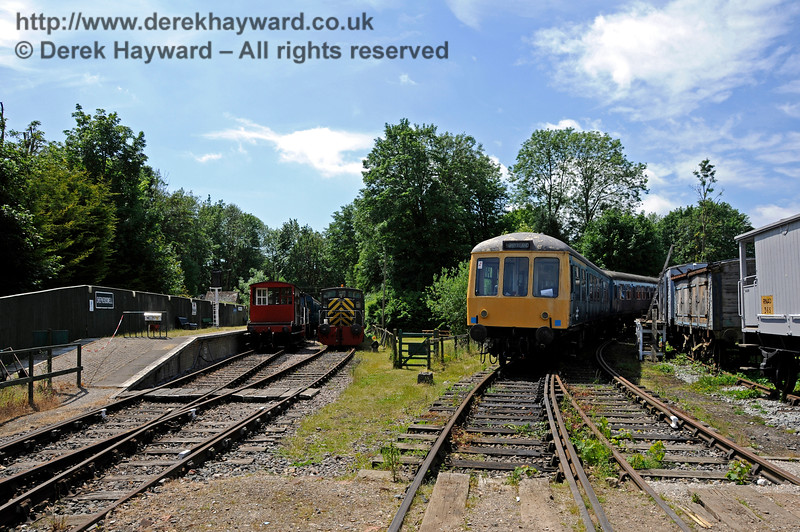 A general view of Shepherdswell Station, East Kent Railway, looking west.  17.06.2015  12734