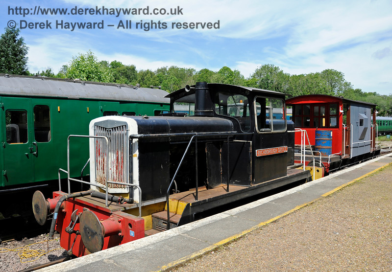 English Electric 0-6-0 Richborough Castle (works number D1197).  Shepherdswell Station, East Kent Railway.  17.06.2015  12726