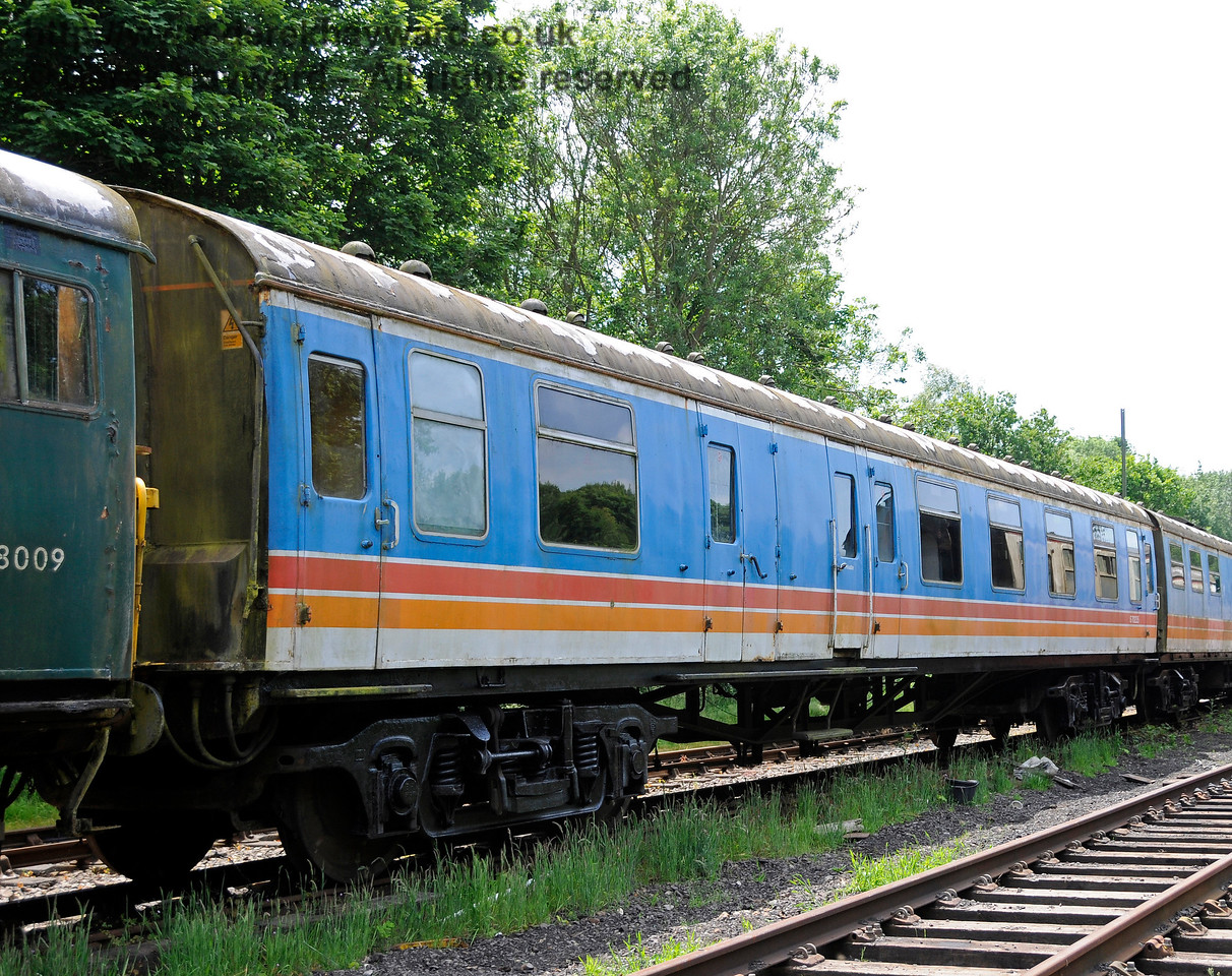 The other side of coach S70235 from BR 4-CEP unit 7105.  This coach is owned by the EPB Preservation Group.  East Kent Railway, Shepherdswell Station, 17.06.2015  12749