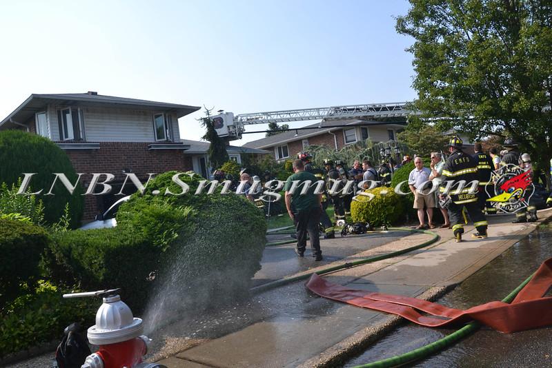 East Meadow F D House Fire 129 BEVERLY PL CS STEPHEN ST 8-21-2013-2-25