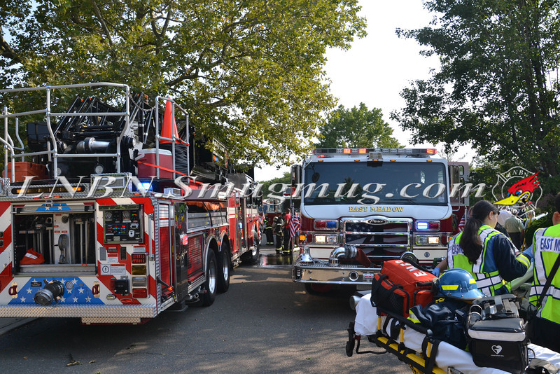 East Meadow F D House Fire 129 BEVERLY PL CS STEPHEN ST 8-21-2013-2-21