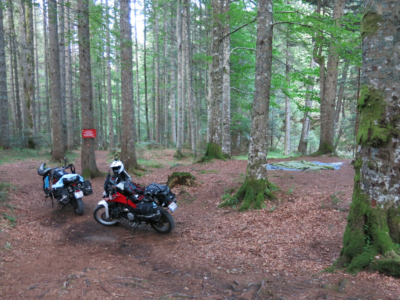 Camping in the Slovenian mountain forests