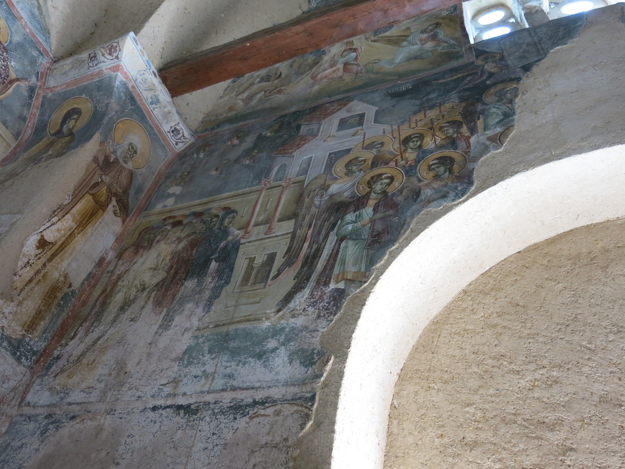 Murals prepped for restoration
