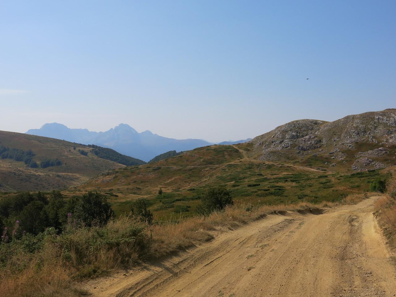 Exploring a route to Berane through the mountains