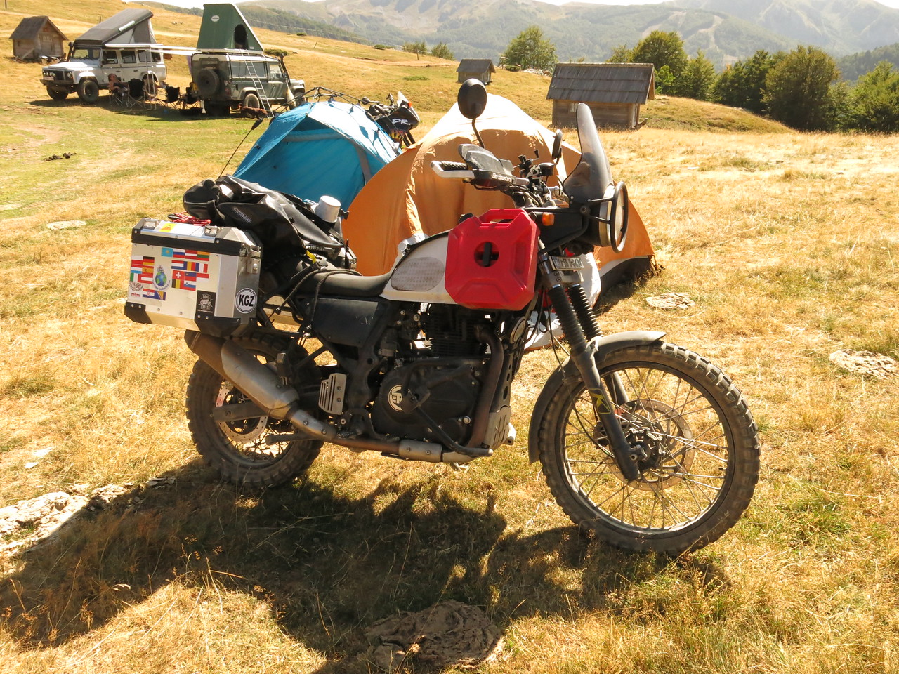 This Royal Enfield Hamalayan came to Europe the proper way: overland with its Indian rider