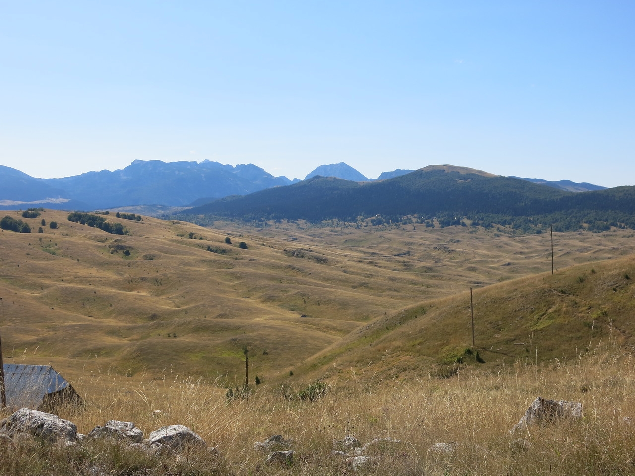 Undulating landscapes in the Durmitor National Park