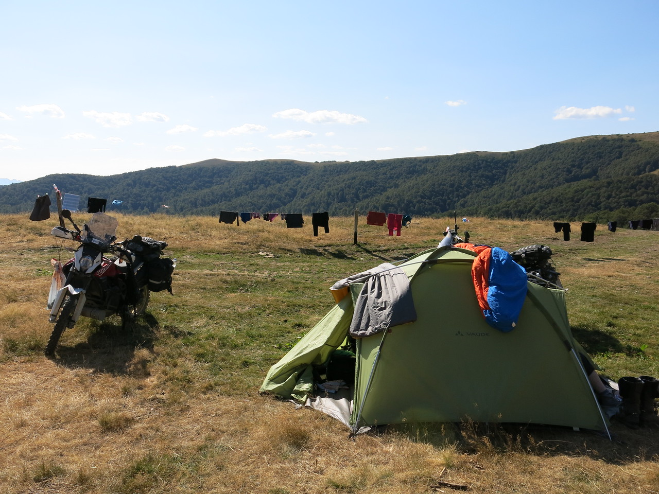 Set up camp at Eko Katun Vranjak