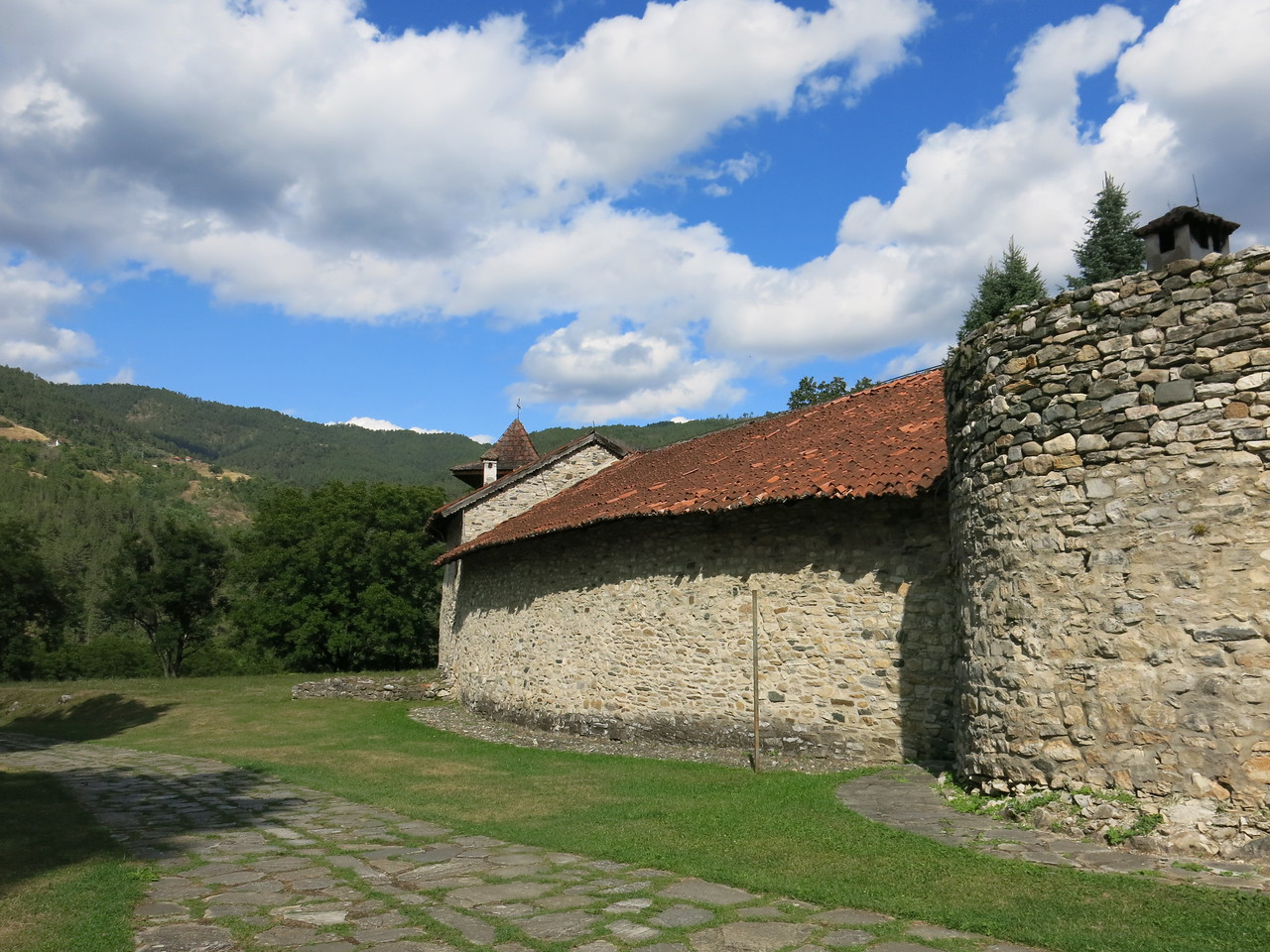 Fortifications around the monastery
