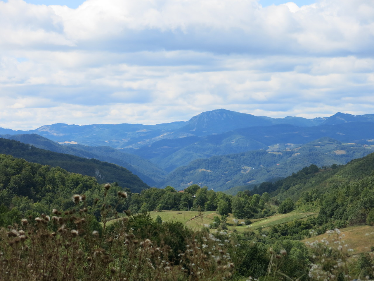 Views towards the border with Kosovo