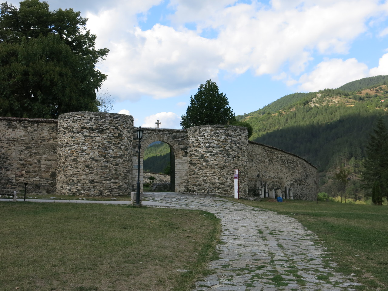 Main entrance to the Stucenica Monastery