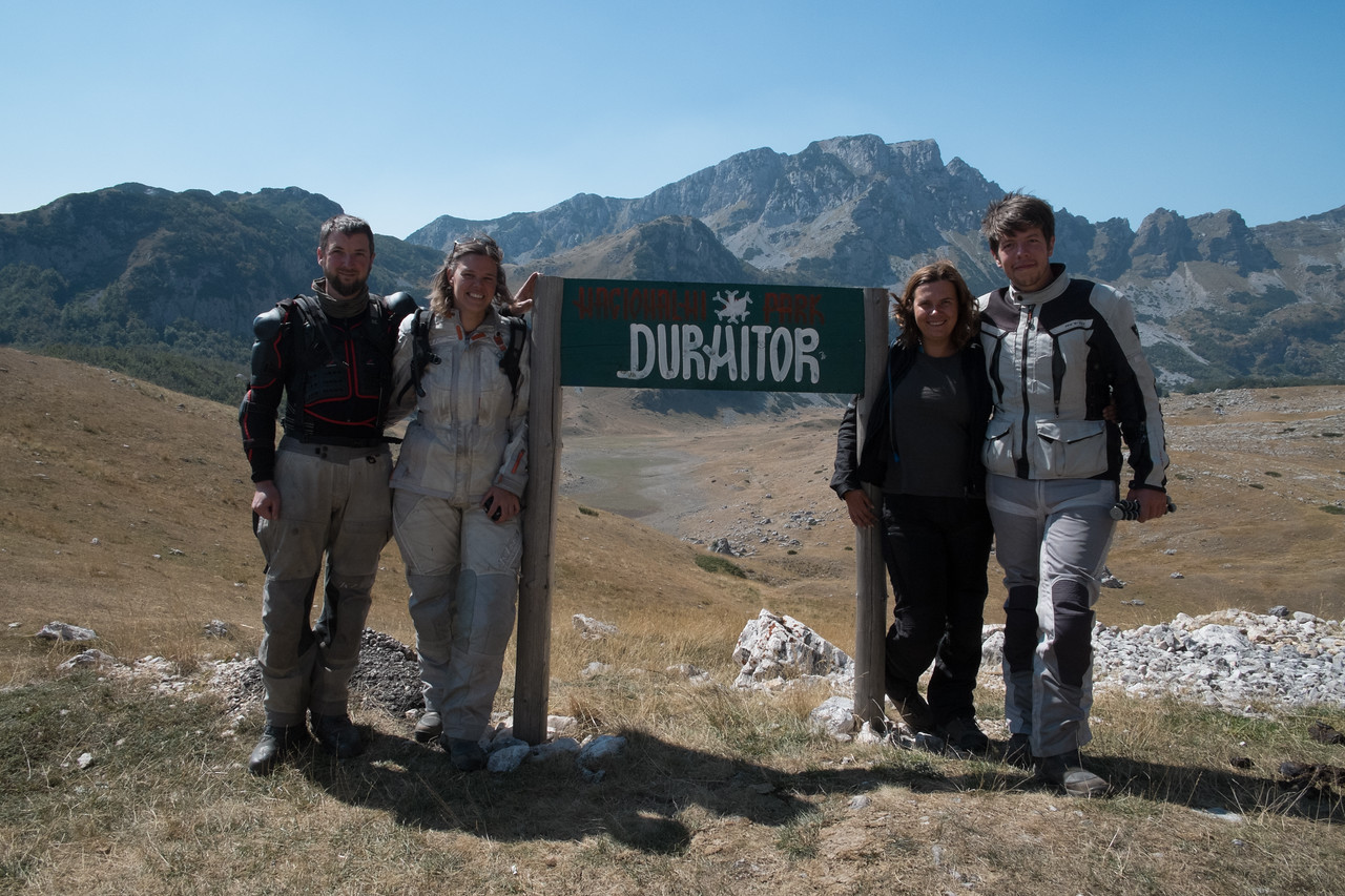 Group photo at the entrance to Durmitor National Park