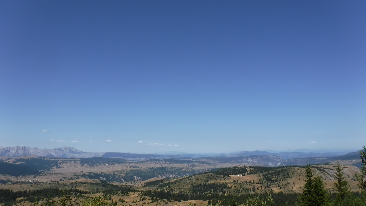 View on the Durmitor plateau