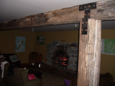 The big open fire, there is a drying room on the other side of that wall.