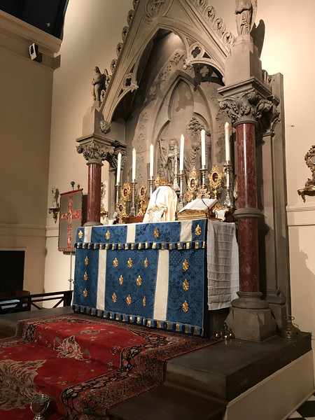 High Altar just before Easter High Mass