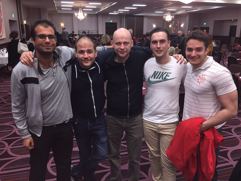 London Easter Festival 2017 - Swiss Teams winners: Shazhaad Natt,  Kiril Delev, Szczepan Smoczynski, Peter Ivanov, Stefano Tommasini,