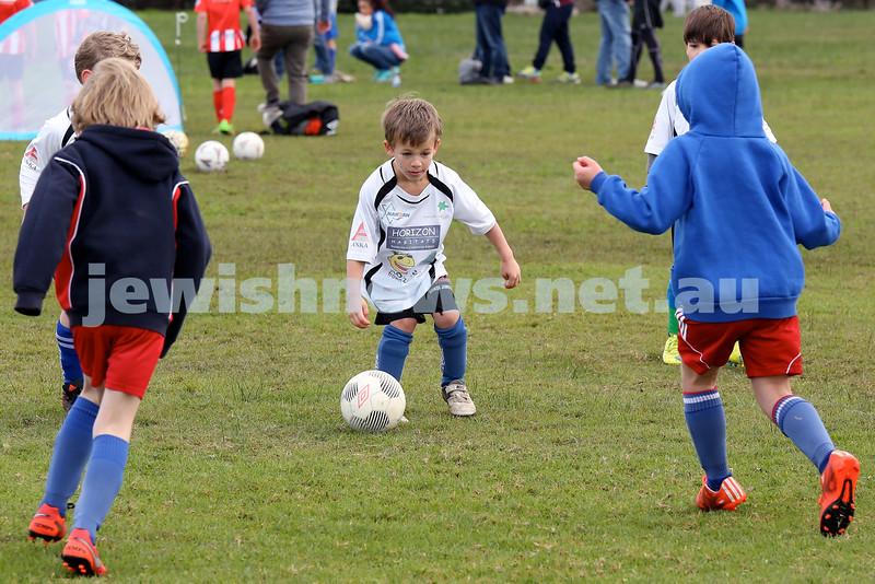 ESFA Soccer Gala Day at Christison Park in Vaucluse. Maccabi Rhinos vs Maroubra Rangers U7. Pic Noel Kessel.