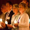 Good Shepherd RCIA candidates during the Service of Light.