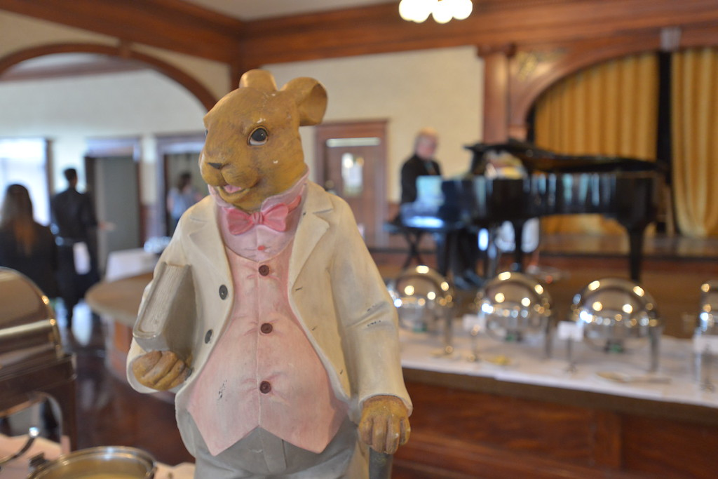 . This Peter Rabbit statue looked very old. (Daniel Sewell/Trail-Gazette)