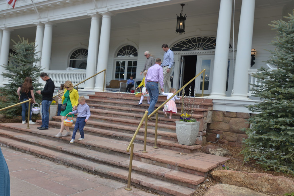 . People were in their Sunday best at the Stanley Hotel for the Easter Feast. (Daniel Sewell/Trail-Gazette)